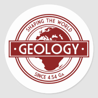 Geology- Shaping the World Logo (Europe) Classic Round Sticker
