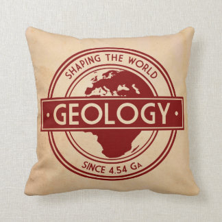 Geology- Shaping the World Logo (Europe) Cushion