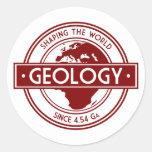 Geology- Shaping the World Logo (Europe) Round Sticker