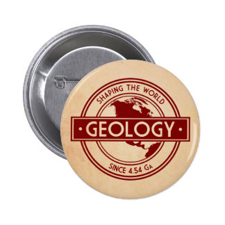 Geology- Shaping the World Logo (North America) 6 Cm Round Badge