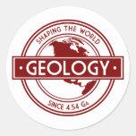 Geology- Shaping the World Logo (North America) Round Sticker