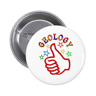 Geology Thumbs Up 6 Cm Round Badge