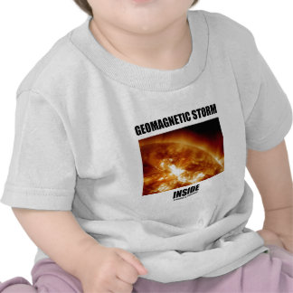 Geomagnetic Storm Inside (Solar Flares) Tshirts