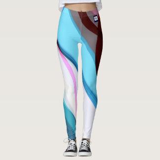 geometri blue leggings