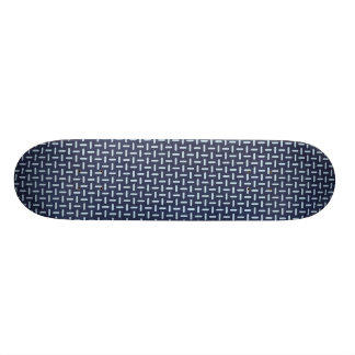 geometric30 NAVY BLUE STEEL GREY SILVER TIRE TRACK Skateboard Decks