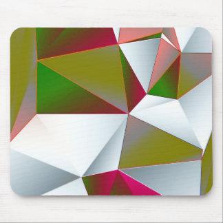 Geometric 02 green mouse pad