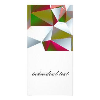Geometric 02 green photo cards