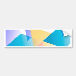 Geometric 03 blue bumper sticker