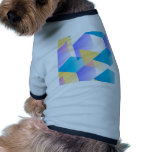 Geometric 03 blue doggie tee