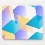 Geometric 03 blue mousepad