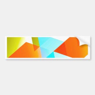 Geometric 03 orange bumper stickers