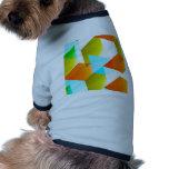 Geometric 03 orange doggie tee