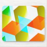 Geometric 03 orange mouse pads