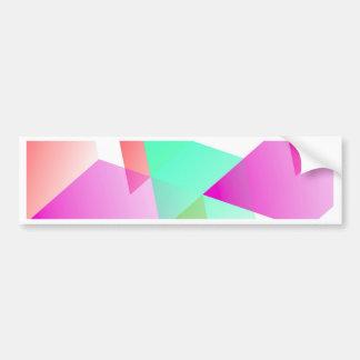 Geometric 03 pink bumper sticker