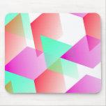 Geometric 03 pink mousepads