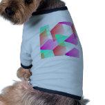 Geometric 03 pink pet tee shirt
