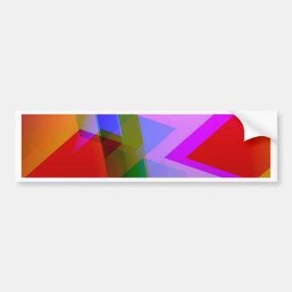 geometric 06 pink bumper stickers