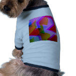 geometric 06 pink dog t-shirt
