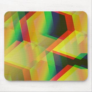 Geometric 06 yellow mousepads