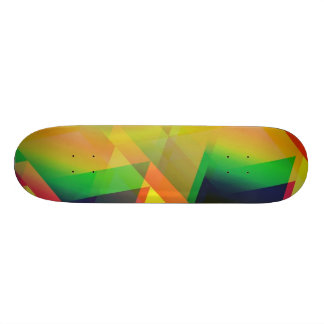 geometric 06 yellow skate boards