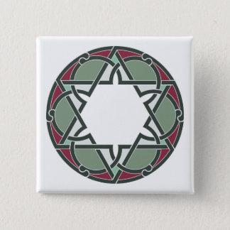 Geometric 15 Cm Square Badge