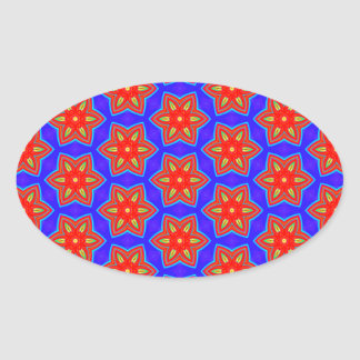 Geometric 160614 (05) oval sticker