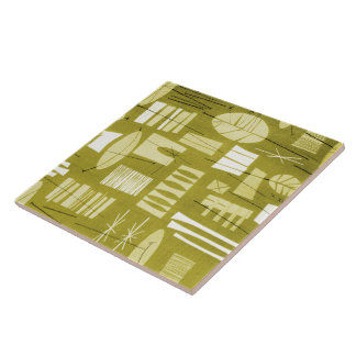 GEOMETRIC 2 Ceramic Tile 2 Sizes - LEMON YELLOW