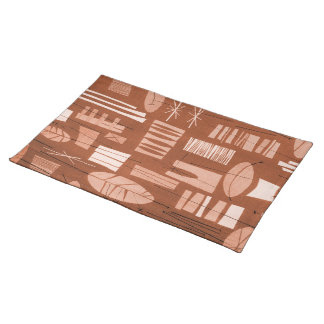 GEOMETRIC 2 MoJo Placemat - COPPER KETTLE