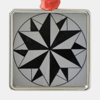 Geometric-6 Premium Square Christmas Ornament
