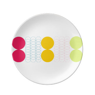 """Geometric 8.5"""" Plate by Florence Dashiell"""