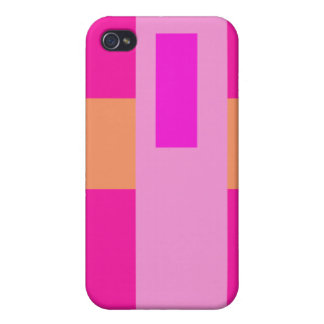 Geometric Abstract Art Minimal Pink Case For The iPhone 4