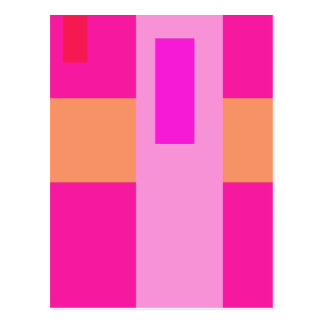 Geometric Abstract Art Minimal Pink Postcard