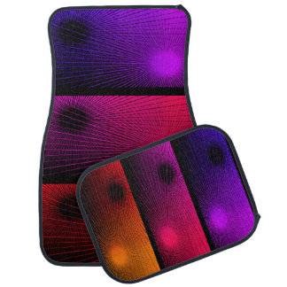 Geometric abstract. car mat