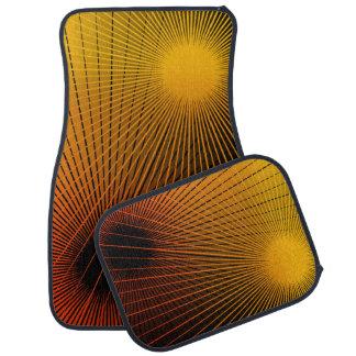 Geometric abstract. car mat