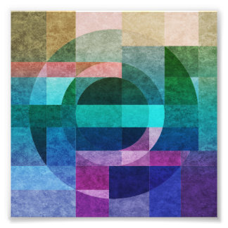 Geometric abstract colorful circle textured art photo