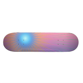 Geometric abstract. custom skateboard