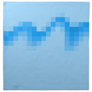 Geometric Abstract Design in Cool Blues. Napkin