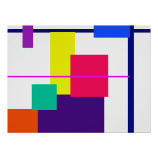 Geometric Abstract Design Poster
