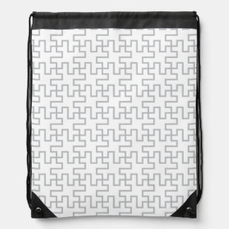 Geometric Abstract Floor Design Drawstring Bag