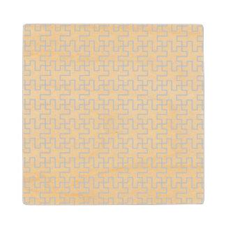 Geometric Abstract Floor Design Maple Wood Coaster