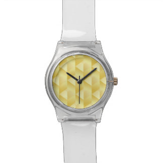 Geometric Abstract Gold Watch
