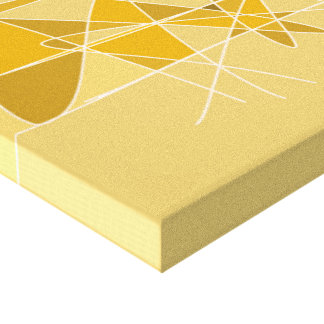 Geometric Abstract Moth Design Artwork Canvas Print