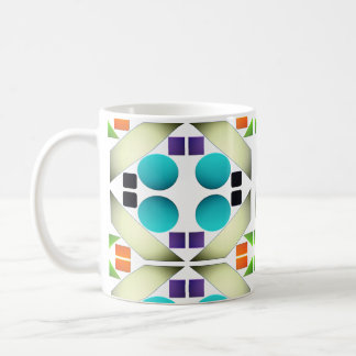 Geometric Abstract Multicolored Minimalism Coffee Mug