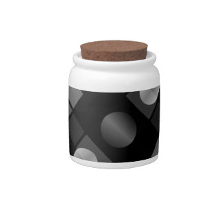 Geometric Abstract Pattern Candy Jars