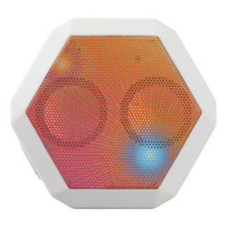 Geometric abstract. white bluetooth speaker