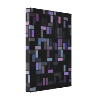 Geometric Abstract  Wrapped Canvas Canvas Prints