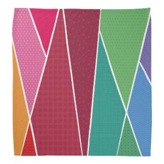 Geometric and colourful bandana