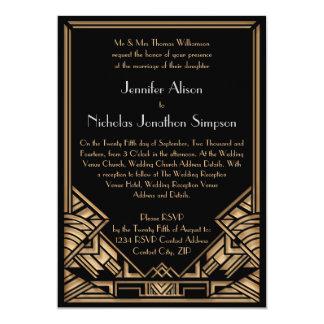 Geometric Art Deco Gatsby Style Wedding Invites