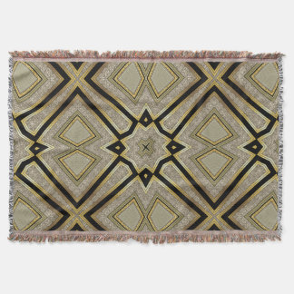 Art deco throw blankets - Deco taupe ...