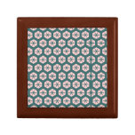 Geometric art dusty rose and green trinket boxes